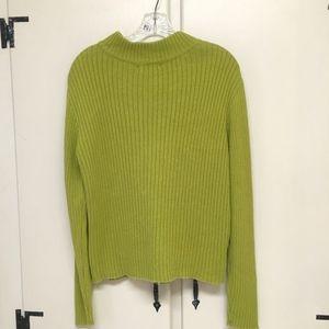Pierri New York Sweaters - Pierri New York Lime Green Zipper Cardigan